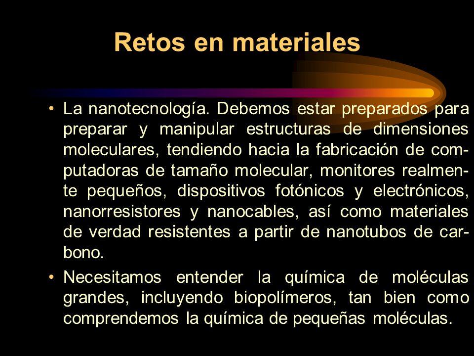 Retos en materiales La nanotecnología.