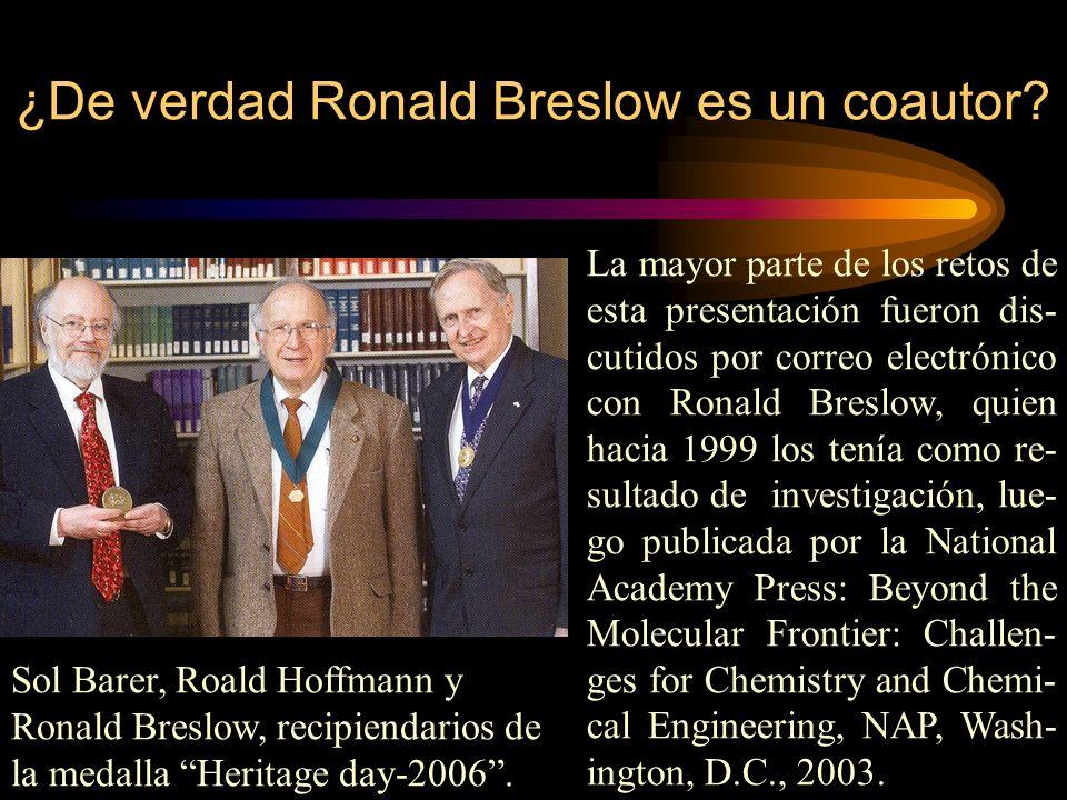 ¿De verdad Ronald Breslow es un coautor.