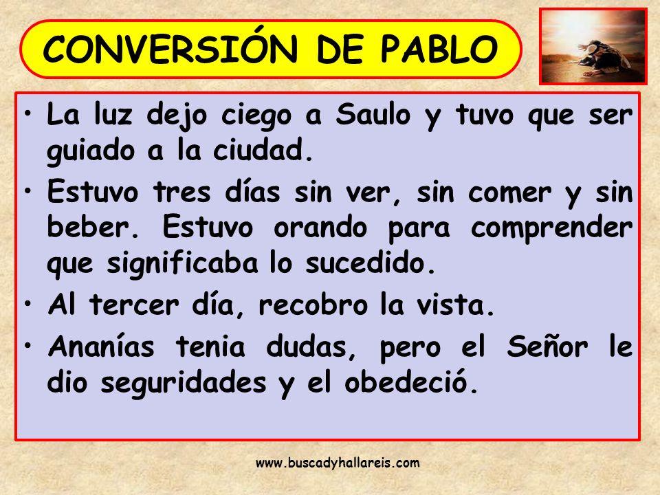 Saulo confeso su fe en el Señor Jesús, recobro la vista y fue bautizado.
