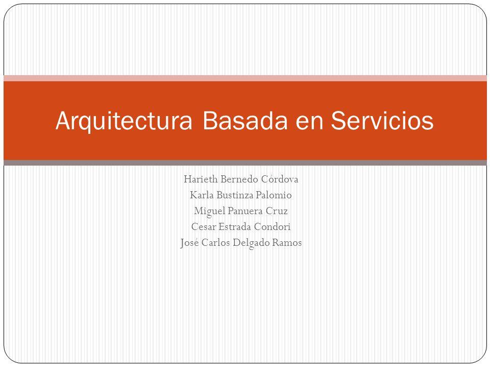 Harieth Bernedo Córdova Karla Bustinza Palomio Miguel Panuera Cruz Cesar Estrada Condori José Carlos Delgado Ramos Arquitectura Basada en Servicios