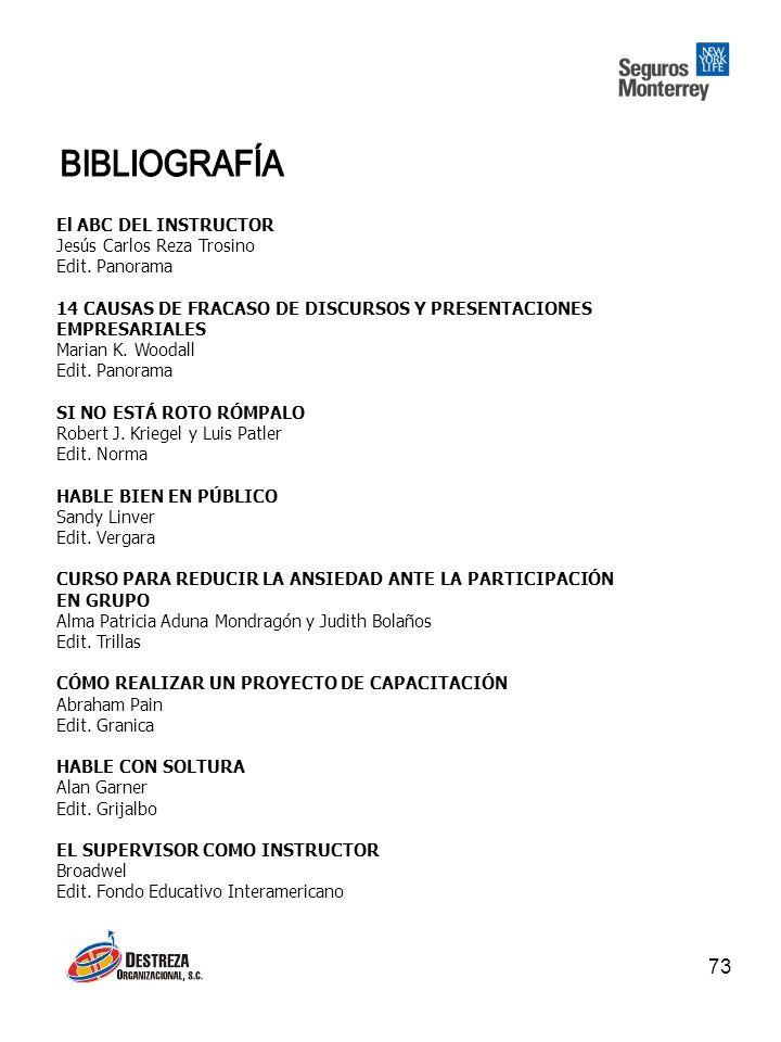 73 El ABC DEL INSTRUCTOR Jesús Carlos Reza Trosino Edit.