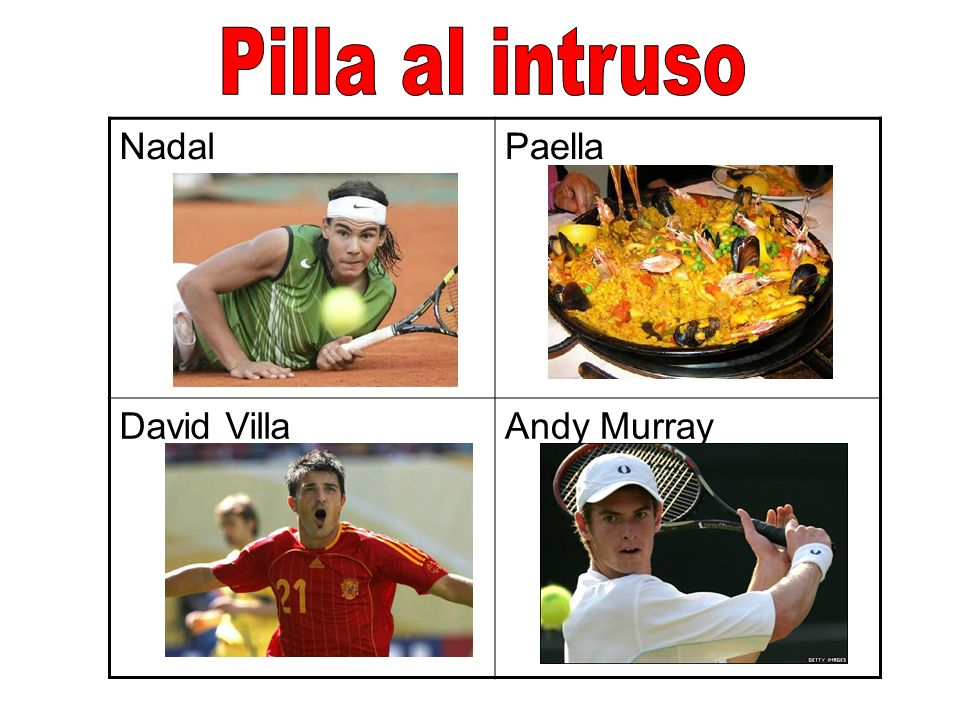 NadalPaella David VillaAndy Murray