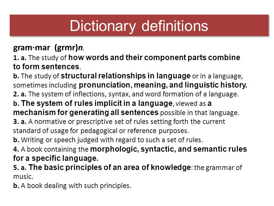 Defining grammar
