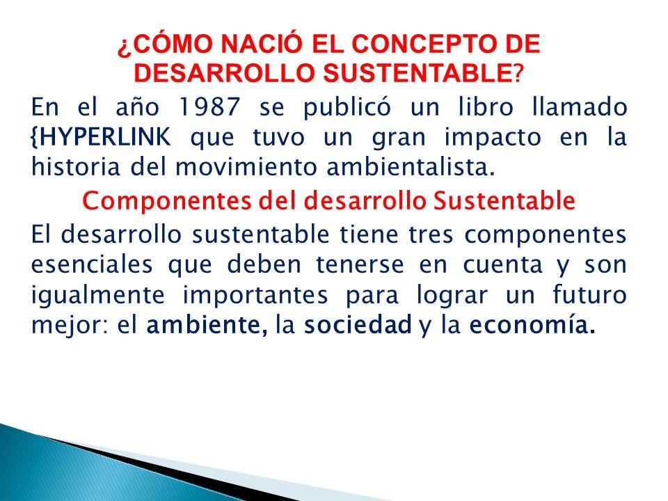 ¿CÓMO NACIÓ EL CONCEPTO DE DESARROLLO SUSTENTABLE .