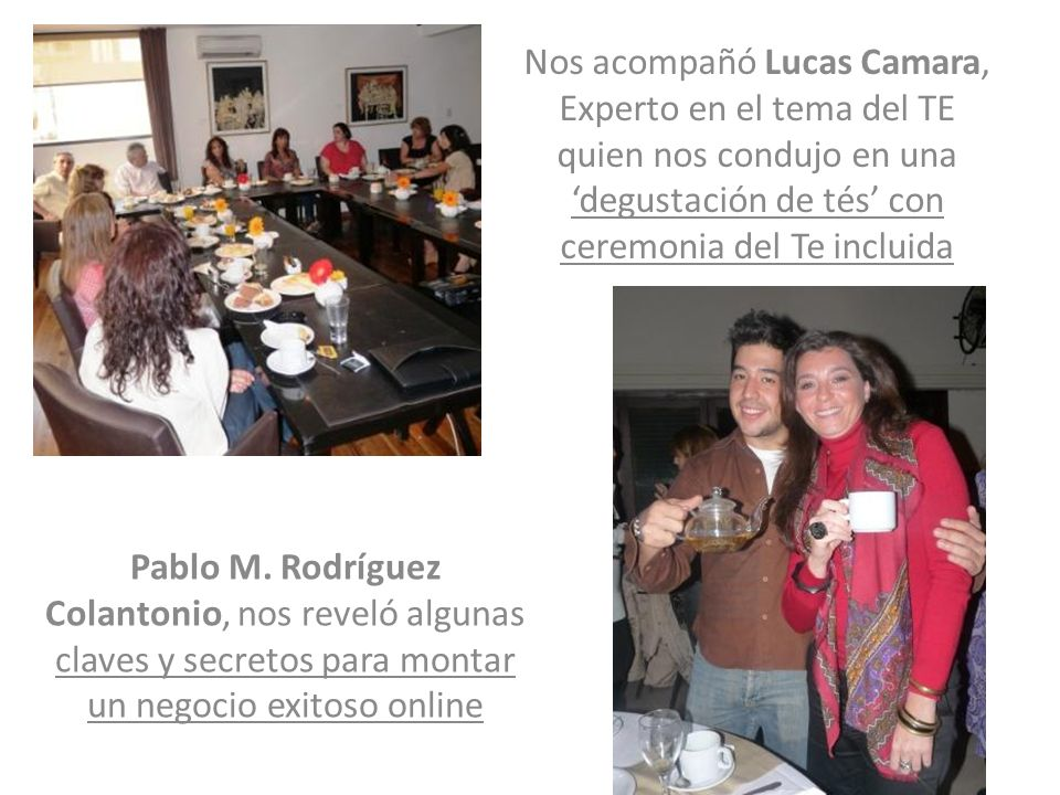 Pablo M. Rodríguez Colantonio, nos reveló algunas claves y secretos para montar un negocio exitoso online Nos acompañó Lucas Camara, Experto en el tem