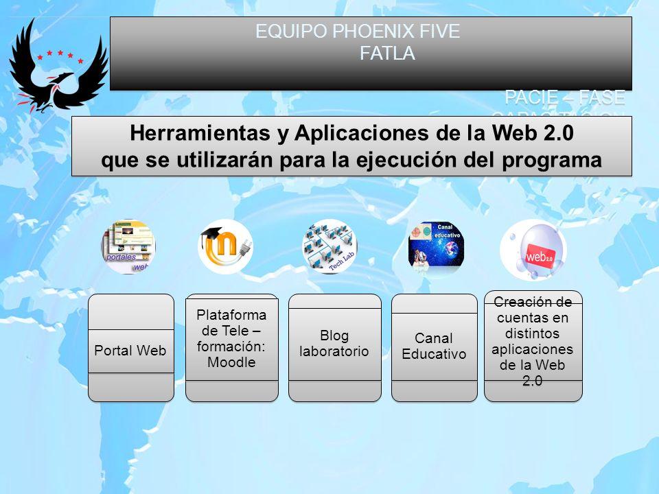 EQUIPO PHOENIX FIVE FATLA PACIE – FASE CAPACITACION EQUIPO PHOENIX FIVE FATLA PACIE – FASE CAPACITACION Herramientas y Aplicaciones de la Web 2.0 que
