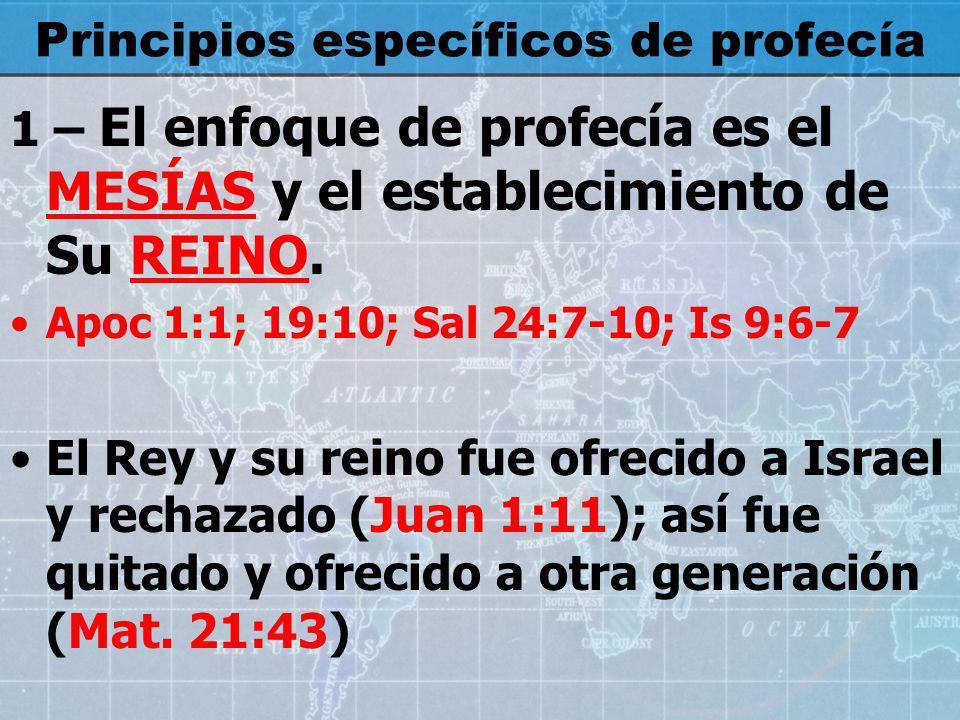 2 – Reconocer el principio de la MEZCLA de profecías con condensación profética Is.
