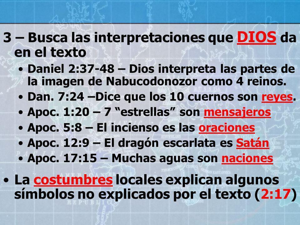 4 – Compara textos paralelos para entender profecías.