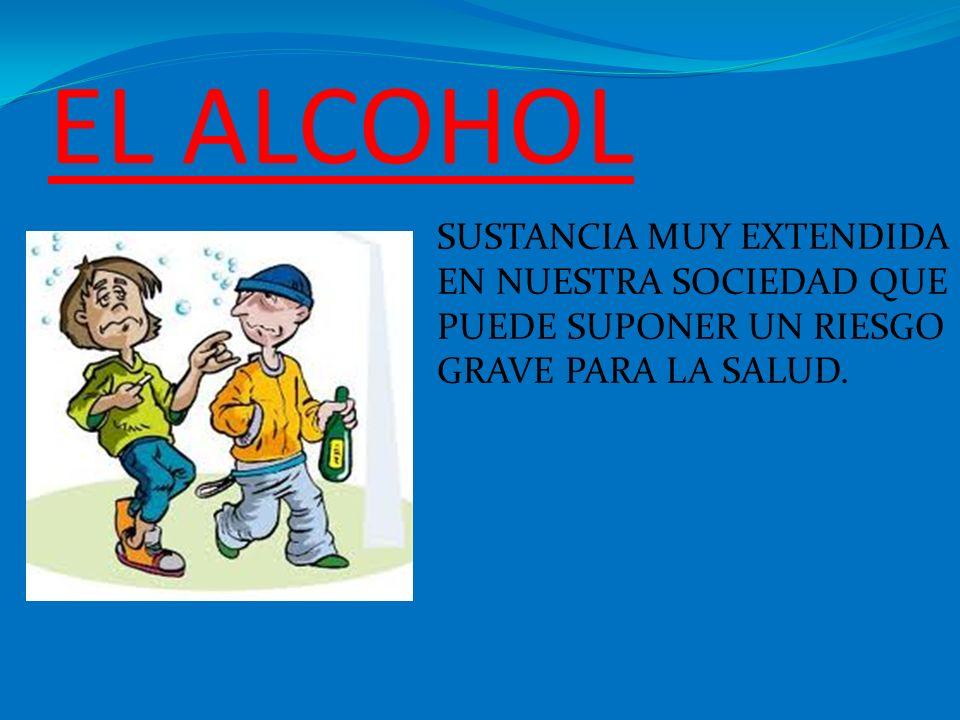 EL ALCOHOL SUSTANCIA MUY EXTENDIDA EN NUESTRA SOCIEDAD QUE PUEDE SUPONER UN RIESGO GRAVE PARA LA SALUD.