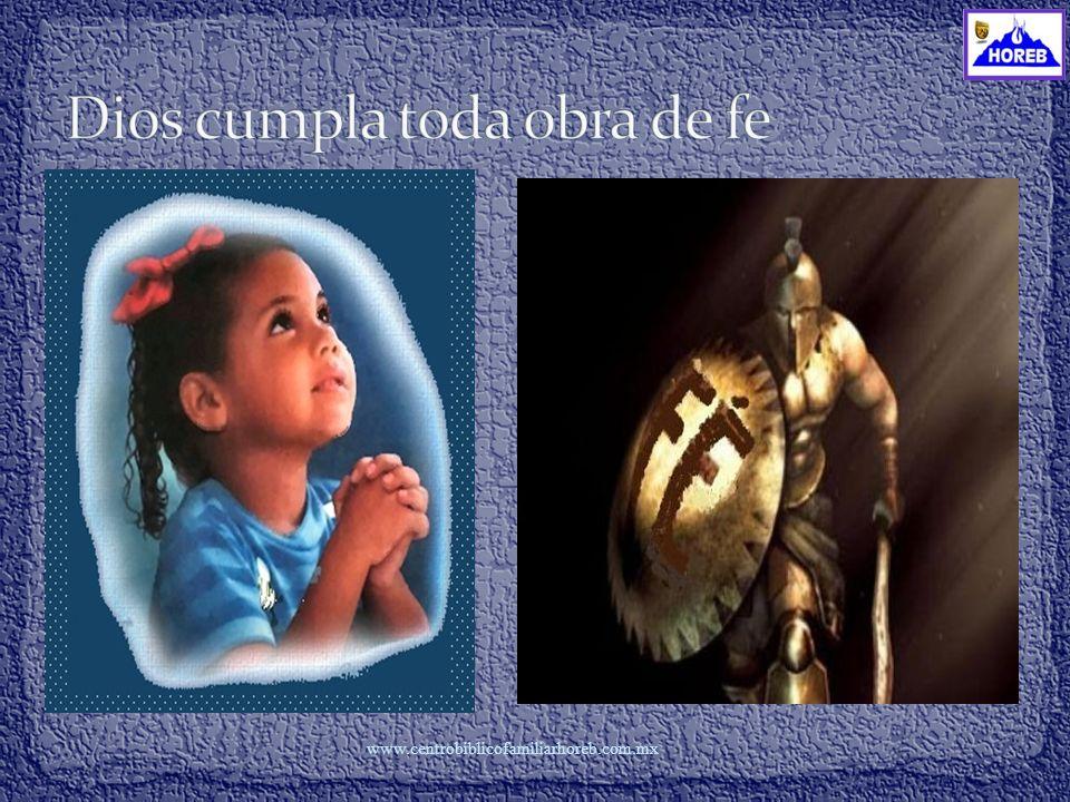 www.centrobiblicofamiliarhoreb.com..mx Dios tiene un proyecto de vida para nosotros, por esa razón nos ha invitado a la cena (a disfrutar de sus privilegios) Dios ha producido el querer, el propósito de bondad, tu deseo de hacer cosas para Dios.