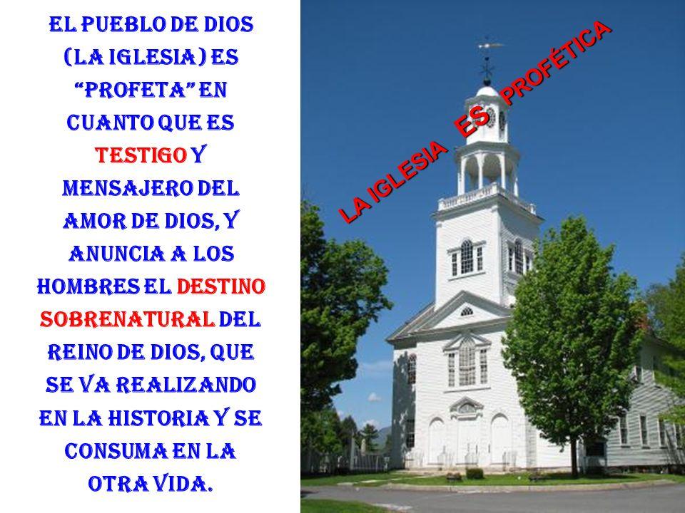 Este Pueblo de Dios participa de las 3 funciones de Cristo, que fue constituido Sacerdote, Profeta y Rey. El Pueblo de Dios ejerce el sacerdocio de Cr