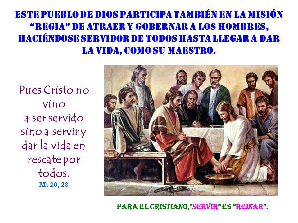 El Pueblo de Dios (la Iglesia) es profeta en cuanto que es testigo y MENSAJERO del Amor de DIOS, y anuncia a los hombres el destino sobrenatural del R