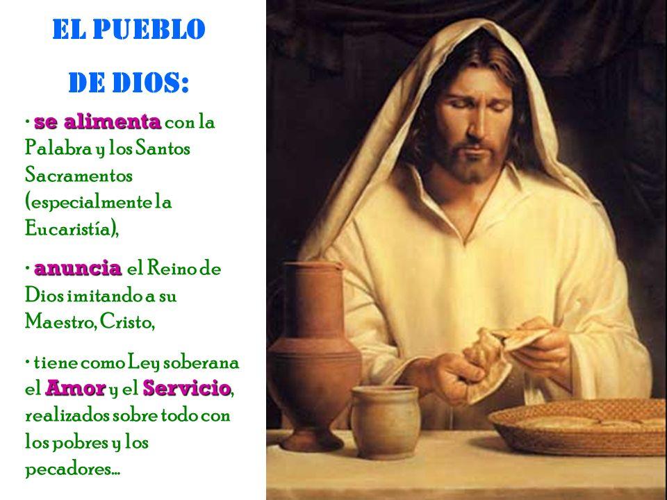 este Pueblo de Dios participa también en la misión regia de atraer y gobernar a los hombres, haciéndose servidor de todos hasta llegar a dar la vida,