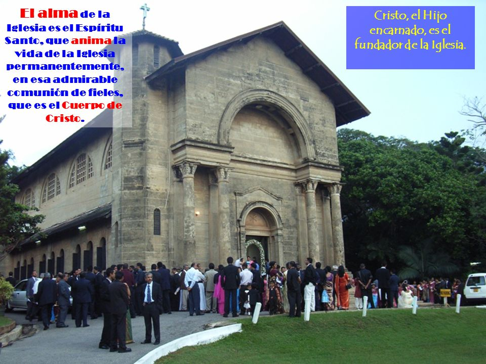 Creo en la Santa Iglesia Católica La Iglesia, fundada por Cristo, es la congregación de todos los fieles cristianos, cuya cabeza visible es el Papa.