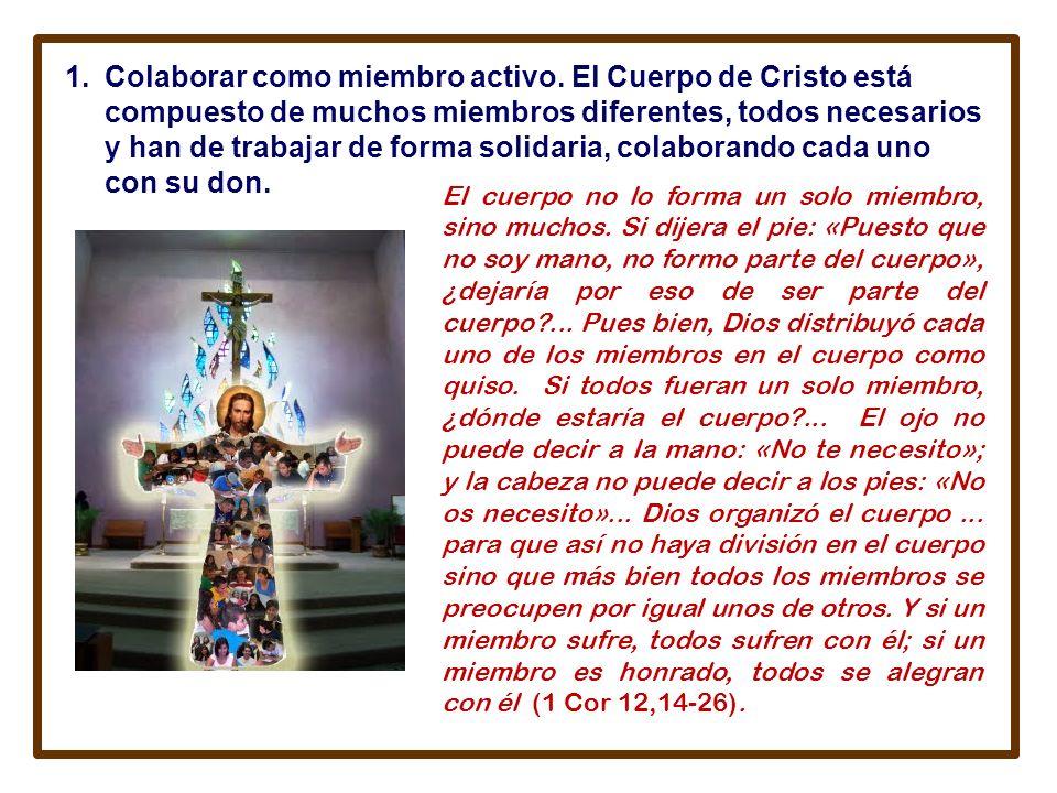 B. CREER EN LA IGLESIA IMPLICA IMPLICA