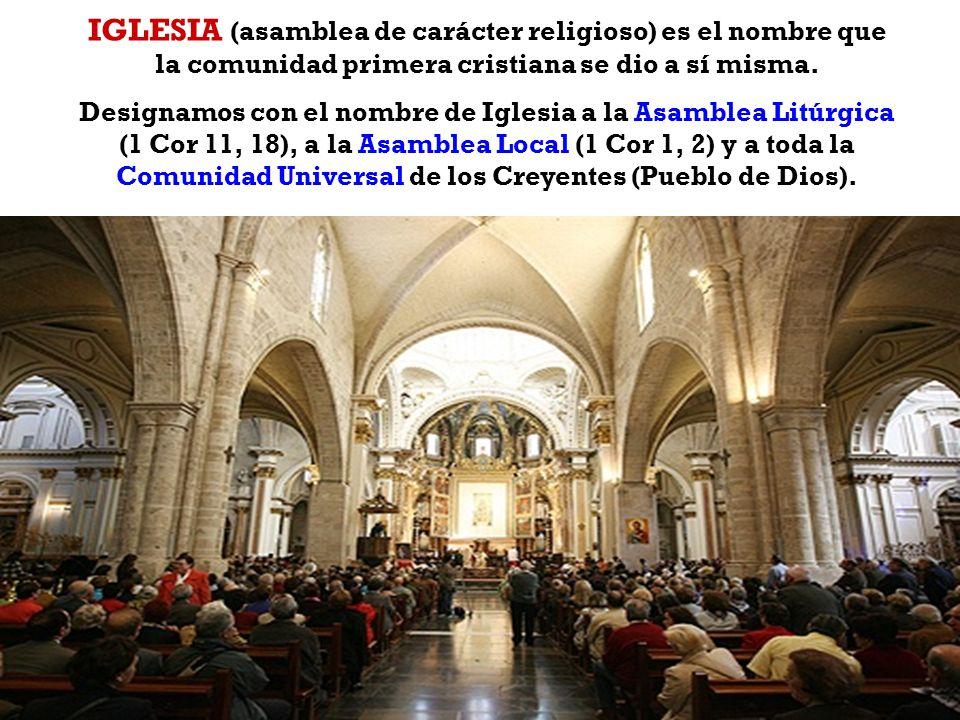 CREO EN LA IGLESIA CATÓLICA La palabra iglesia proviene de la voz griega κκλησία (transliterado como ekkl ē sía), en el latín ecclesia y significa ASA