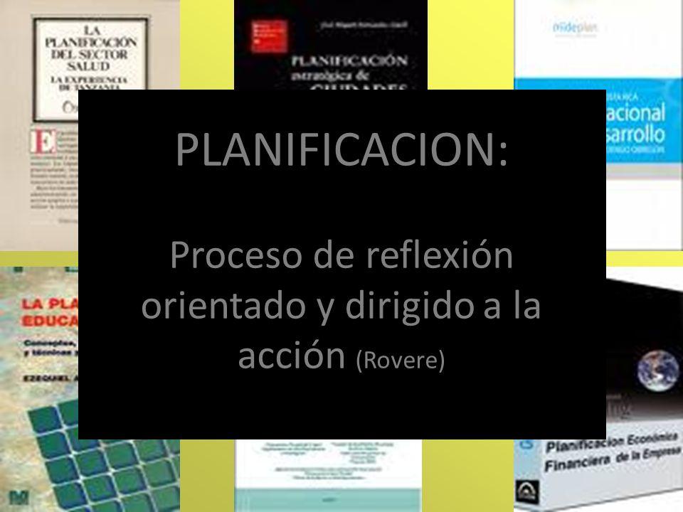 PLANIFICACION RECONOCE ETAPAS INTERRRELACIONADAS: -DIAGNOSTICO: Fijar prioridades…..Visión..