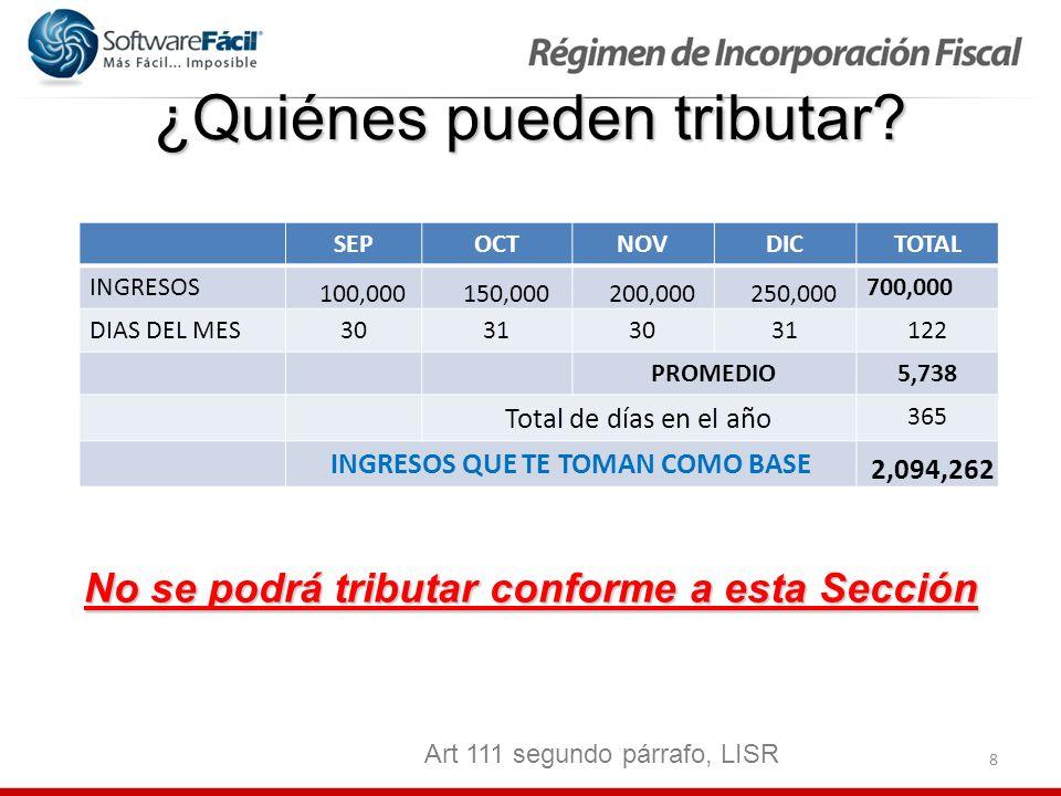 39 Utilidad fiscal del Bimestre CONCEPTOS BIM 1BIM 2BIM 3 INGRESOS ACUMLABLES DEL BIMESTRE 100,00090,000 100,000 (-)DEDUCCIONES AUTORIZADAS DEL BIMESTRE 107,00085,000 80,000 (-)DIFERENCIA DE PERIODOS ANTERIORES10,0005,000 (-) EROGACIONES PARA LA ADQUISICIÓN DE ACTIVOS, GASTOS Y CARGOS DIFERIDOS 1,00000 (-)PTU PAGADA EN EL EJERCICIO 2,00000 (=)UTLIDAD FISCAL ó (DIFERENCIA)(10,000)5,00015,000 Art 111, LISR