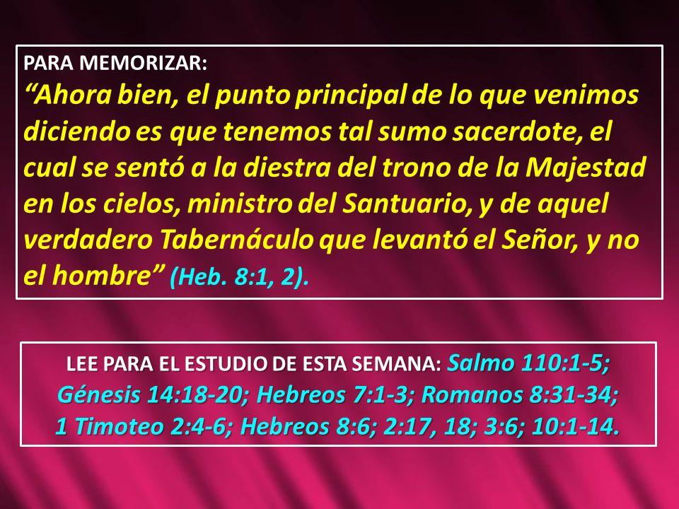DESPUÉS DE SU RESURRECCIÓN y ascensión al Santuario celestial, Cristo ingresó en una nueva fase del plan de redención (Heb.