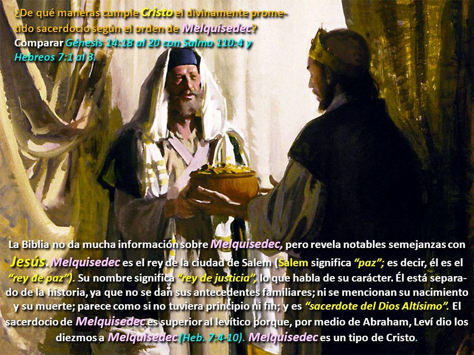 Pero, Cristo es aún más.Aarón fue el primer sumo sacerdote en Israel.