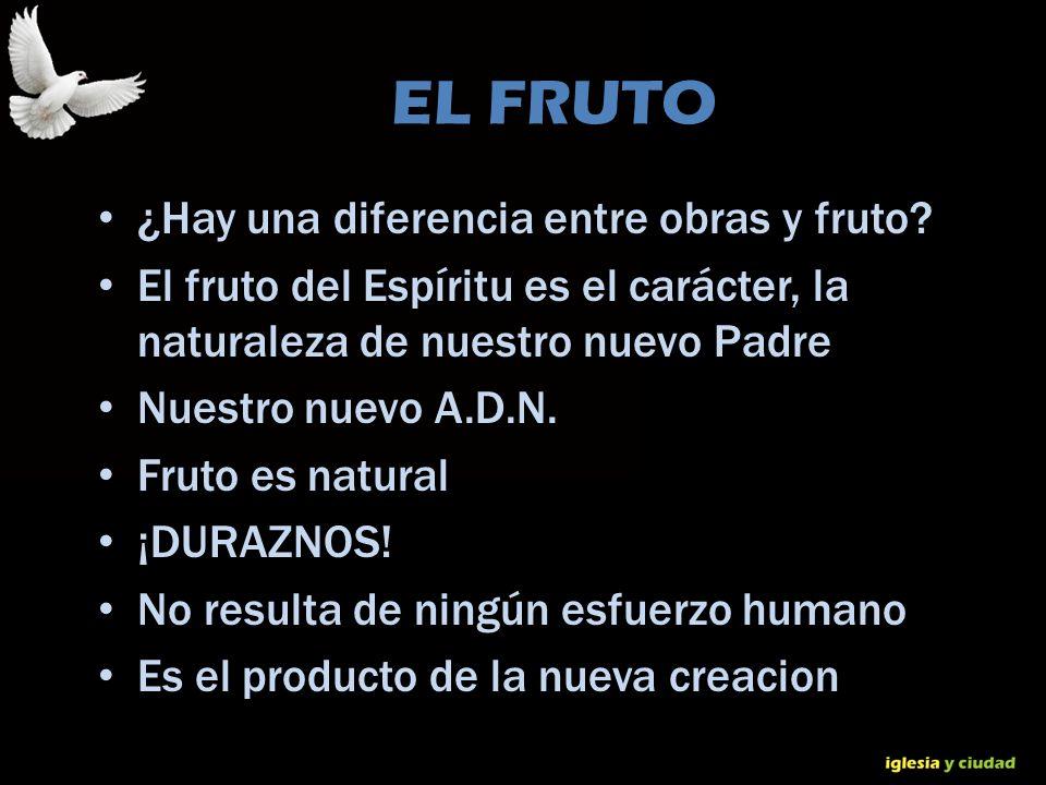 © Dr. Jerry Brown 2010 EL FRUTO ¿Hay una diferencia entre obras y fruto? El fruto del Espíritu es el carácter, la naturaleza de nuestro nuevo Padre Nu
