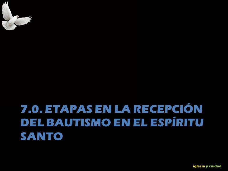 © Dr. Jerry Brown 2010 7.0. ETAPAS EN LA RECEPCIÓN DEL BAUTISMO EN EL ESPÍRITU SANTO