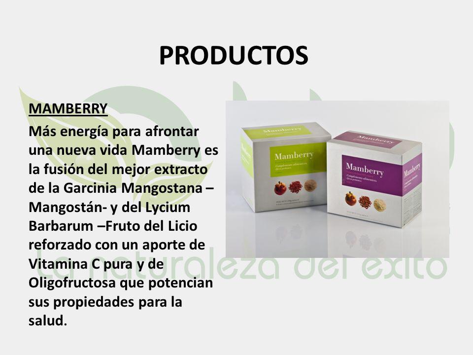 PRODUCTOS MAMBERRY Más energía para afrontar una nueva vida Mamberry es la fusión del mejor extracto de la Garcinia Mangostana – Mangostán- y del Lyci