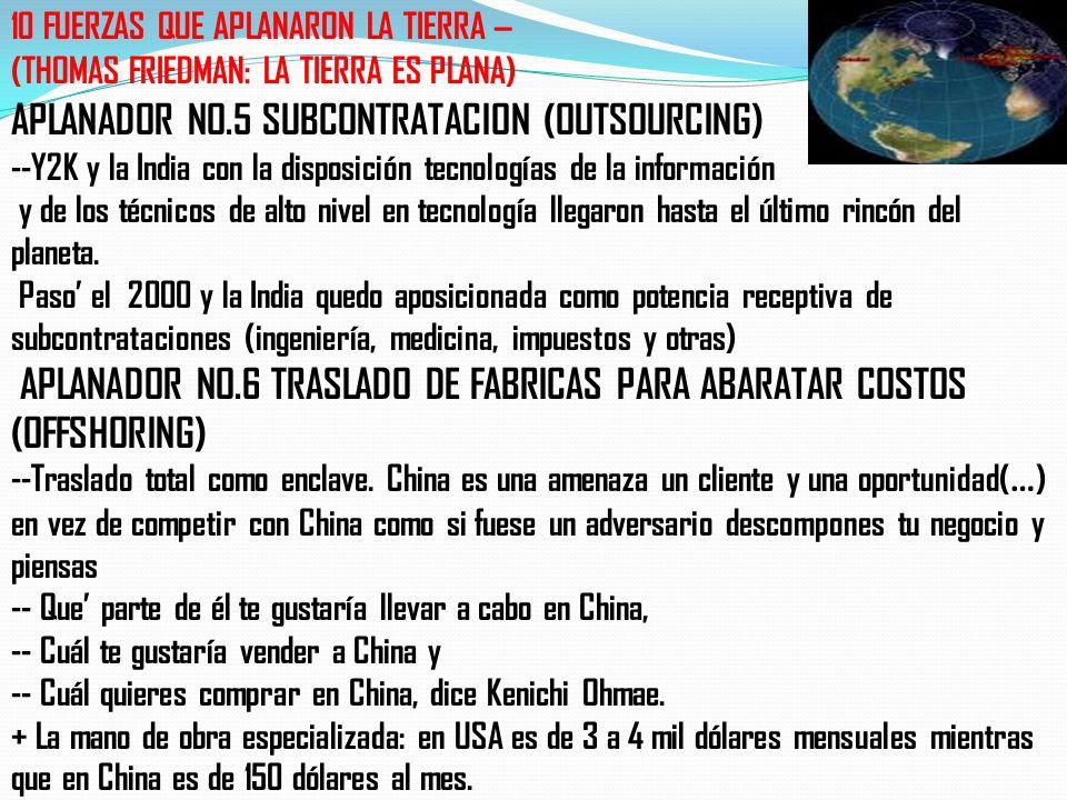 APLANADOR NO. 1 9/NOV/89 LOS MUROS SE DERRUMBAN --Se inicia la visión global, un mundo, aperturas y libre comercio … Rusia, India y China se empiezan