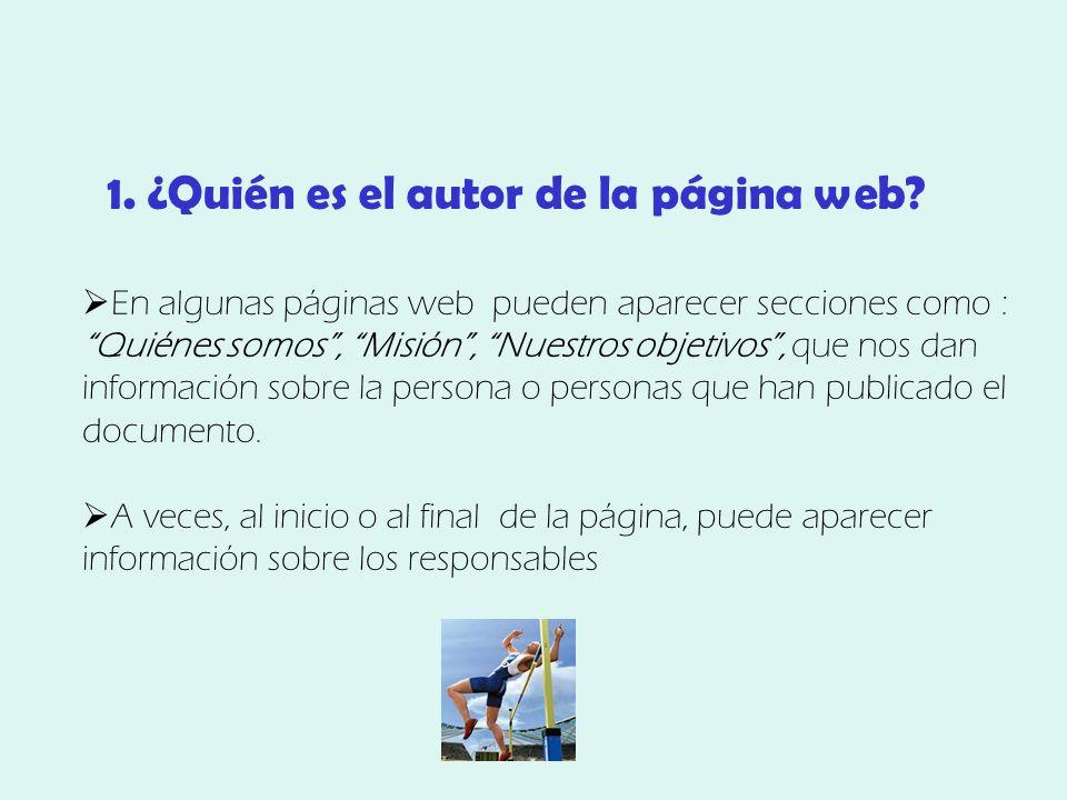 1. ¿Quién es el autor de la página web.