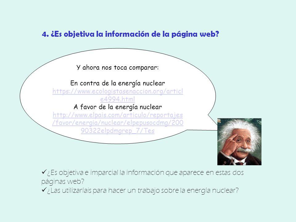 4. ¿Es objetiva la información de la página web.