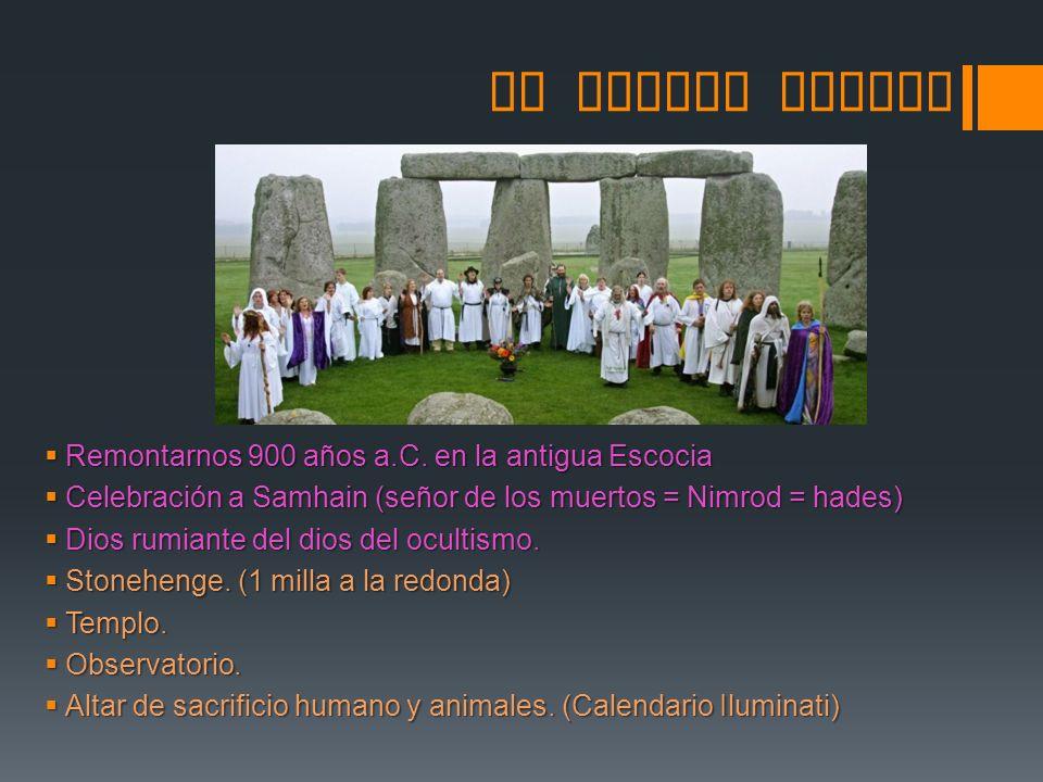 SU ORIGEN PAGANO Remontarnos 900 años a.C. en la antigua Escocia Remontarnos 900 años a.C. en la antigua Escocia Celebración a Samhain (señor de los m