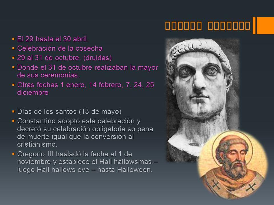 FECHAS PAGANAS COMO TRADICI Ó N CRISTIANA Bonifacio IV: Transforma el panteón de los muertos (pagano) en un templo de adoración a María y a los mártires.