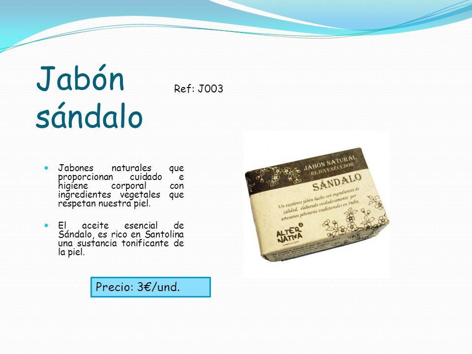 Jabón sándalo Jabones naturales que proporcionan cuidado e higiene corporal con ingredientes vegetales que respetan nuestra piel. El aceite esencial d