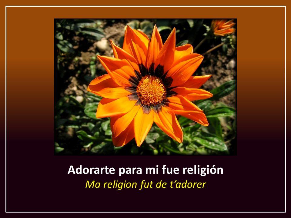 Adorarte para mi fue religión Ma religion fut de tadorer