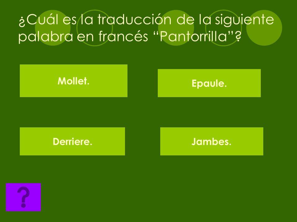 ¿Cuál es la traducción de la siguiente palabra en francés talón? Lepaule Le bied. Le falon. Le nombril.