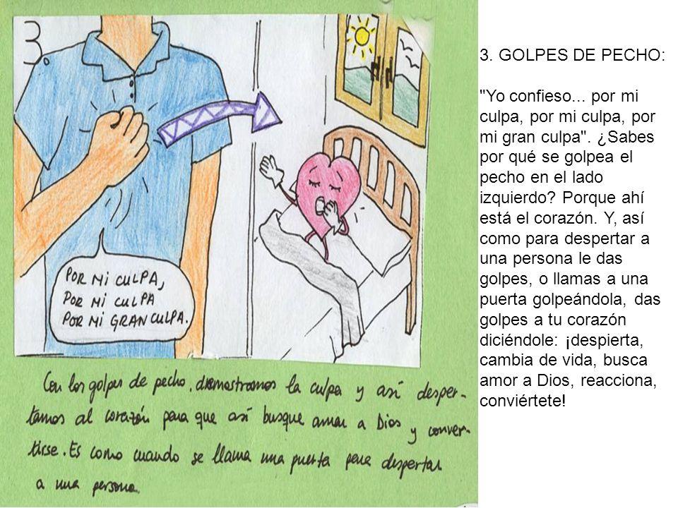 3.GOLPES DE PECHO: Yo confieso... por mi culpa, por mi culpa, por mi gran culpa .