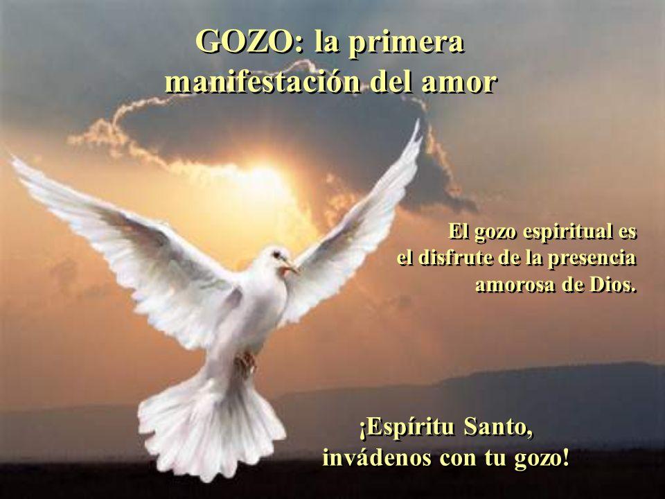 AMOR: el fruto que nos da a Dios mismo AMOR: el fruto que nos da a Dios mismo El Amor viene de Dios, hace presente a Dios, es Dios con nosotros. El Am