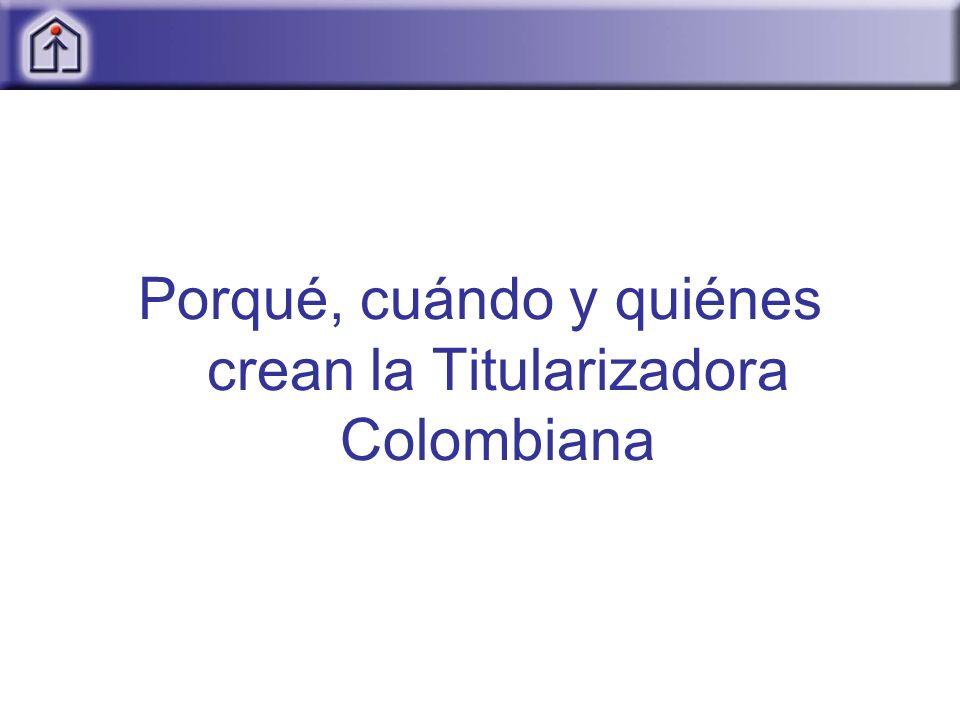 Porqué, cuándo y quiénes crean la Titularizadora Colombiana