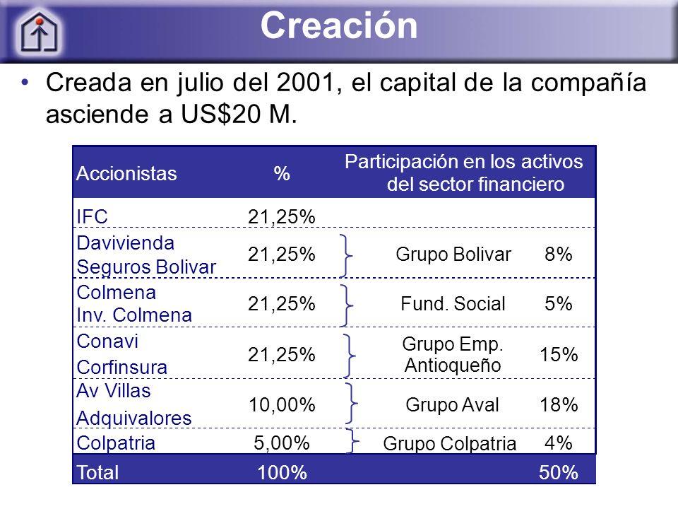Creación Creada en julio del 2001, el capital de la compañía asciende a US$20 M.