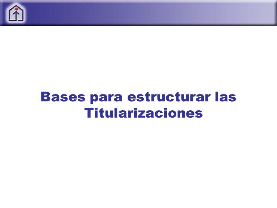 Bases para estructurar las Titularizaciones
