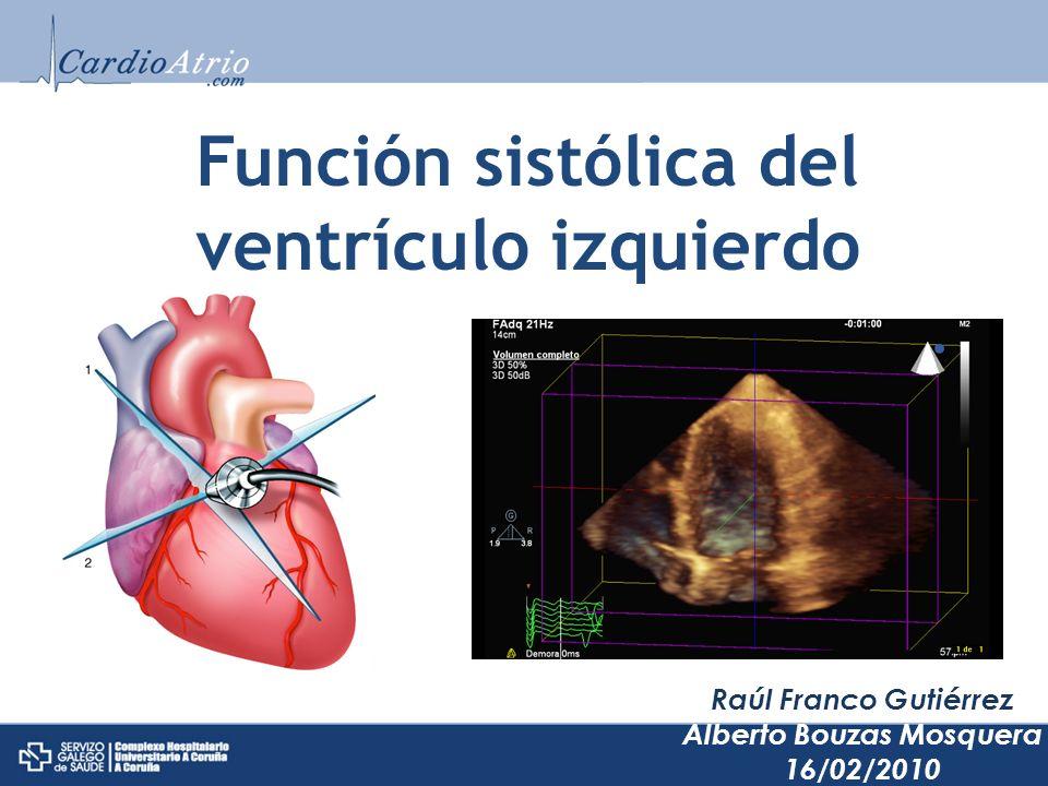 Función sistólica del ventrículo izquierdo Raúl Franco Gutiérrez Alberto Bouzas Mosquera 16/02/2010
