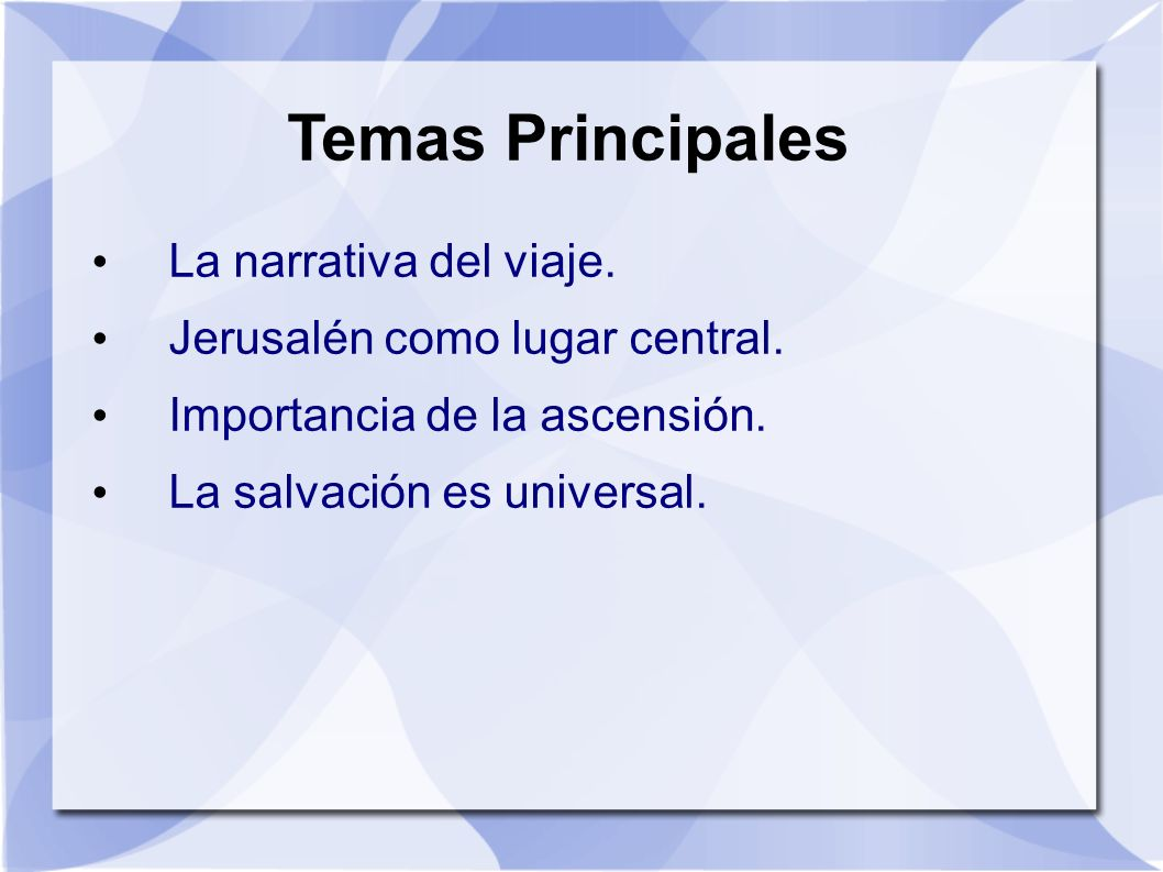 Jesus Profeta Mesianico (4:14-30) Tema de Promesa-Cumplimiento Rechazo de sus paisanos Jesus es profeta.
