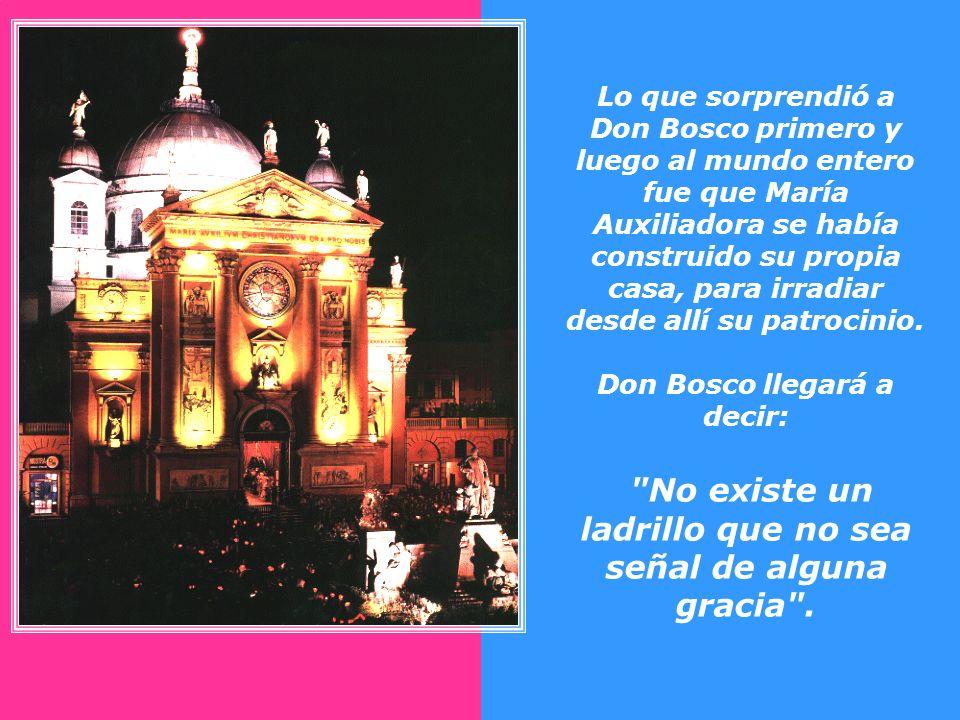 En 1863 Don Bosco comienza la construcción de la iglesia. Todo su capital era de cuarenta centavos, y ese fue el primer pago que hizo al constructor.