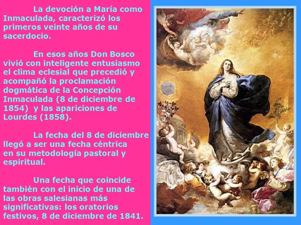 La devoción a María como Inmaculada, caracterizó los primeros veinte años de su sacerdocio.