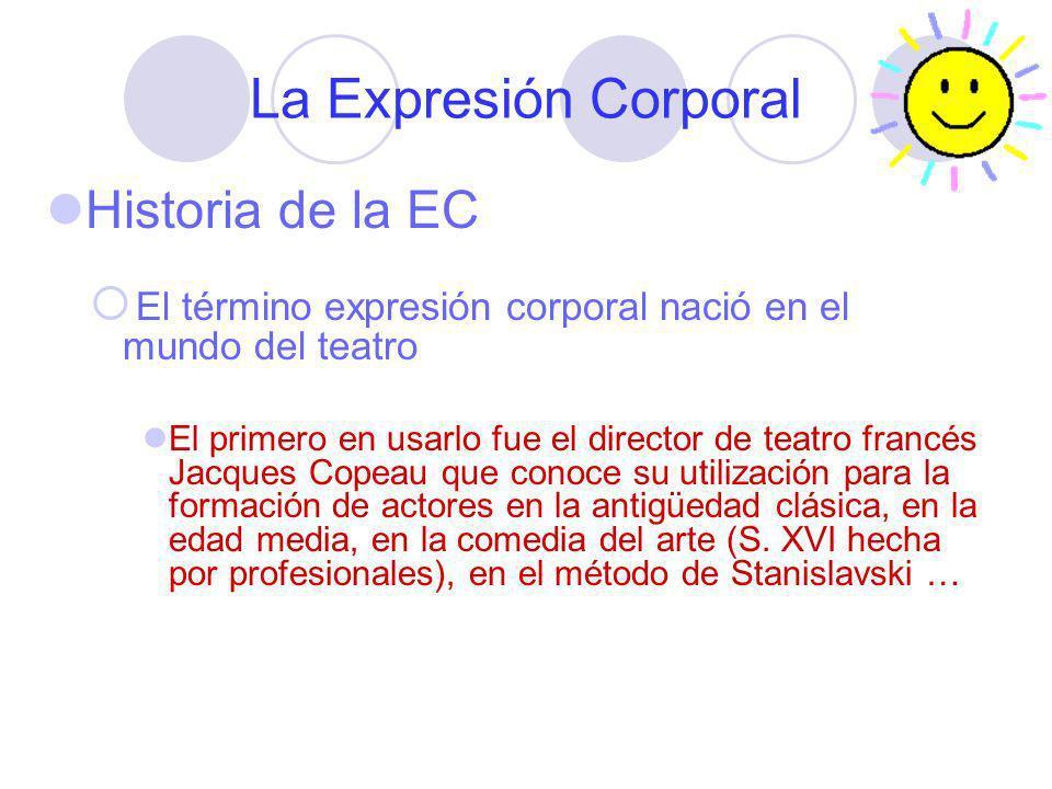 La Expresión Corporal Historia de la EC El término expresión corporal nació en el mundo del teatro El primero en usarlo fue el director de teatro fran