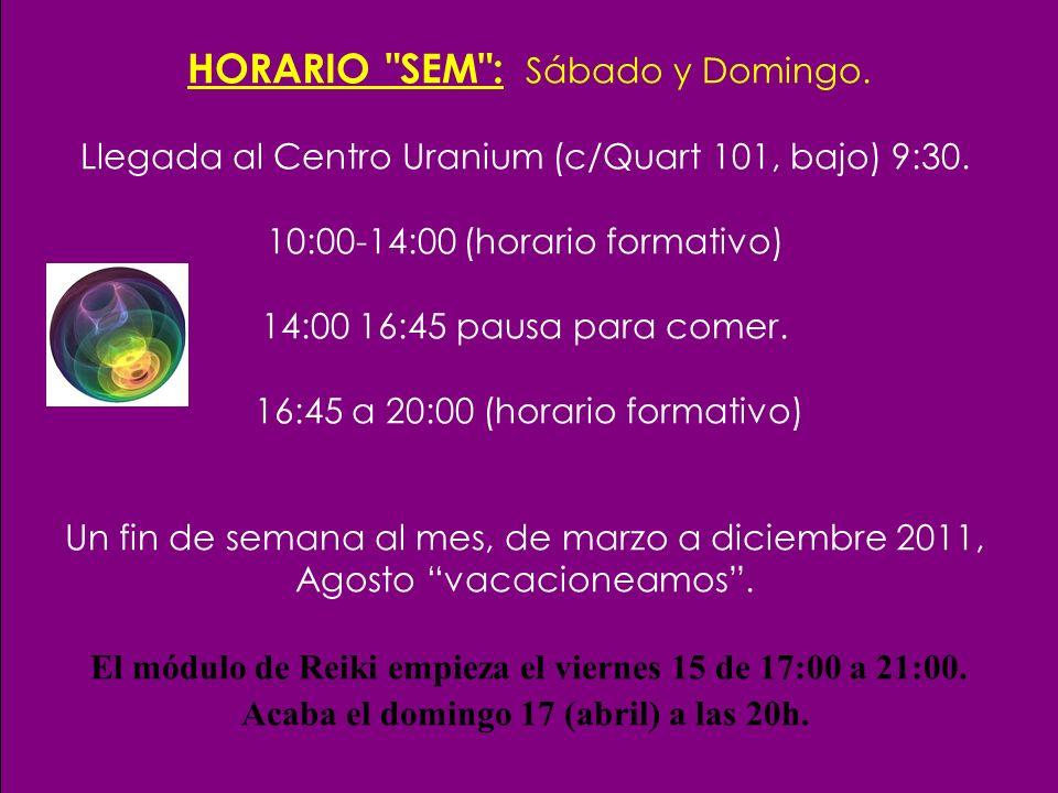 Próximas charlas informativas: CENTRO URANIUM.c/ Quart 101, bajo.