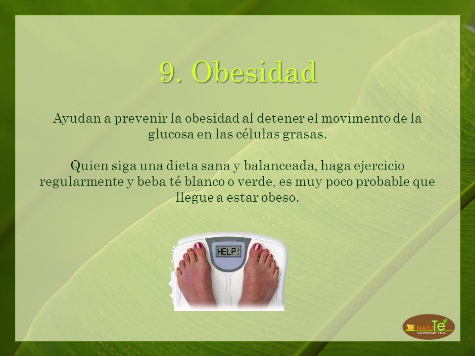 8. Colesterol Ayudan a reducir el nivel de colesterol malo y mejora la proporción del colesterol bueno.