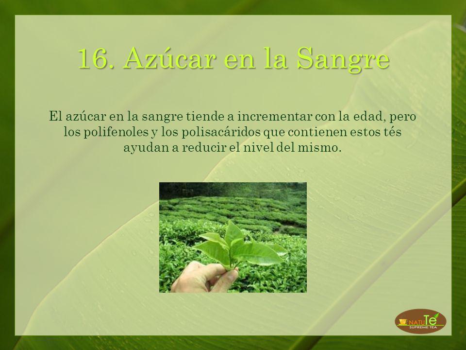 15. Envenenamiento por alimentos Las catequinas que se encuentran en el té blanco y verde pueden matar las bacterias que causan el envenenamiento por