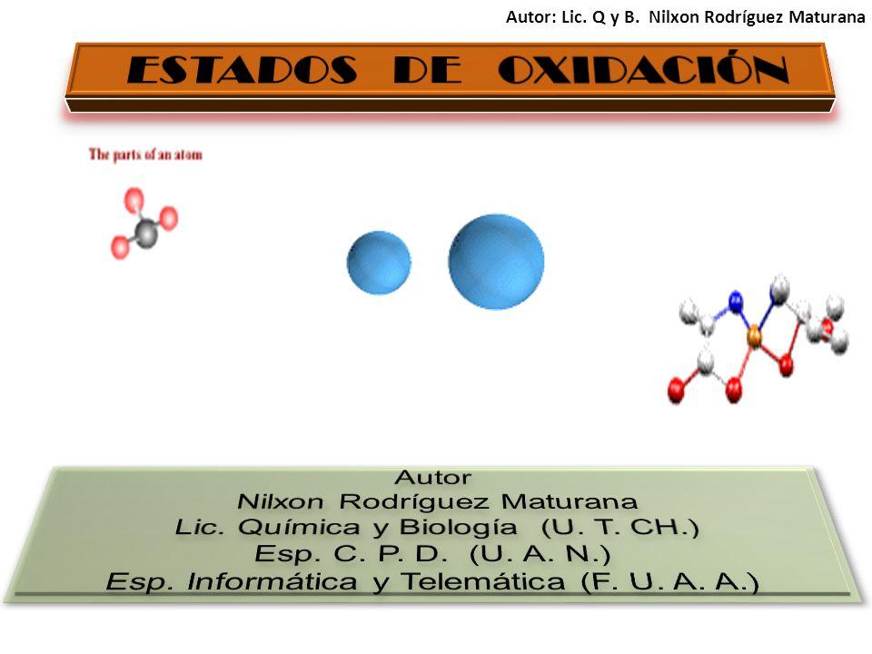 1 También es llamado o conocido con el nombre de número de oxidación y se define como la la expresión del número de electrones que un elemento ha ganado, perdido o compartido al unirse con otro(s) elemento(s).
