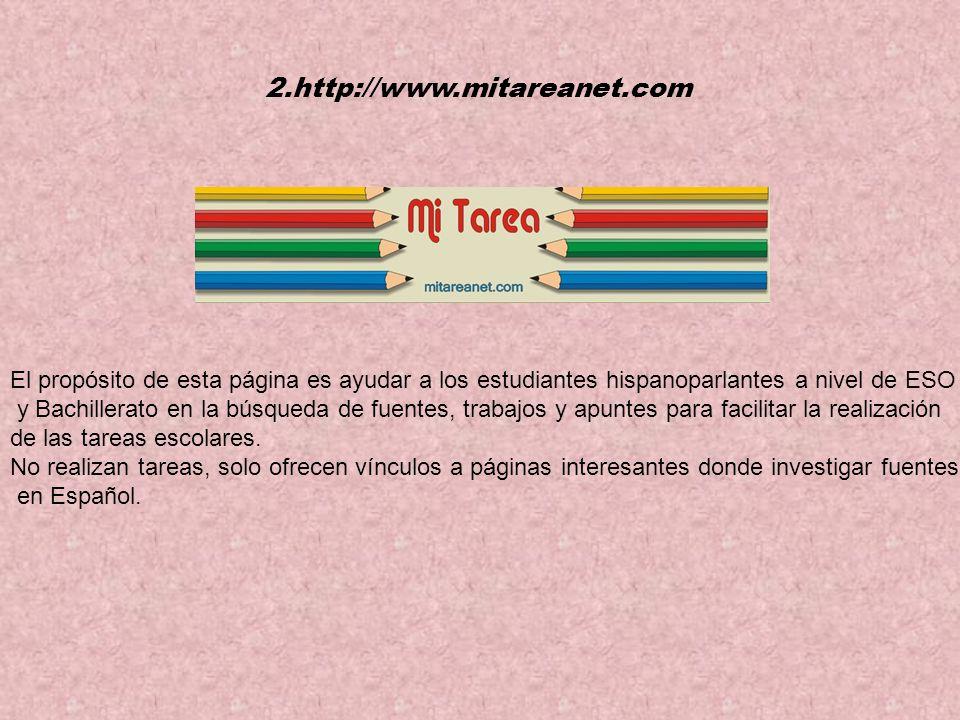 El propósito de esta página es ayudar a los estudiantes hispanoparlantes a nivel de ESO y Bachillerato en la búsqueda de fuentes, trabajos y apuntes para facilitar la realización de las tareas escolares.
